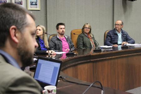 Ranzi conduziu a reunião das Comissões nesta quinta-feira, dia 17