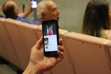 Na manhã desta sexta-feira foi realizada uma reunião teste pelo aplicativo Hangouts Meet.