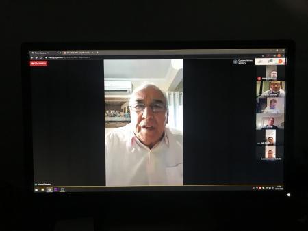 Câmara realiza sua primeira sessão virtual pela ferramenta Hangouts Meet.