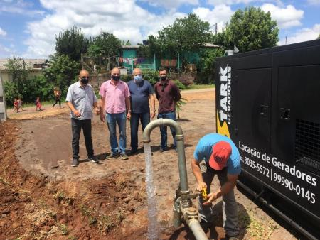 CORSAN inaugura poço no bairro Santo Antônio